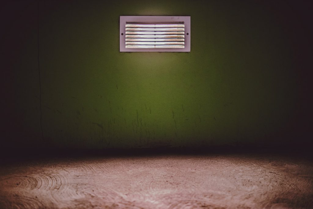 empty room with a vent