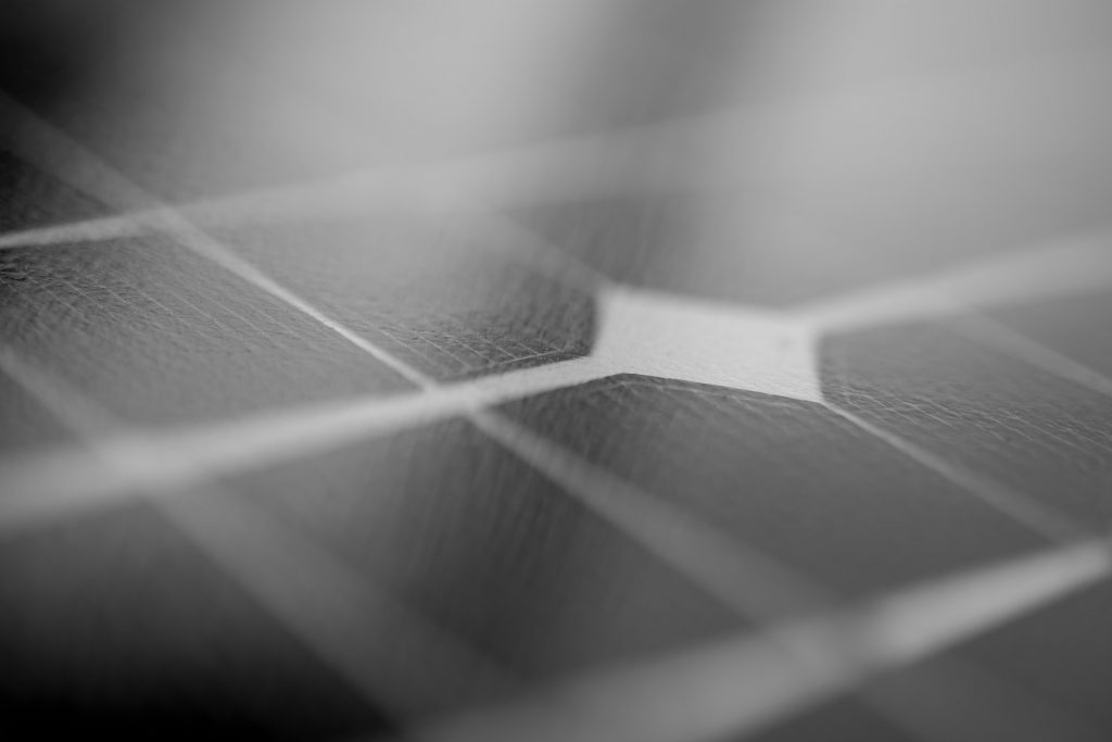 black solar panel zoomed in