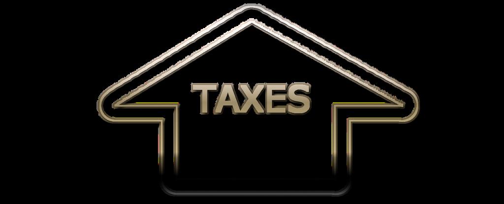 taxed written in an arrow pointing upward